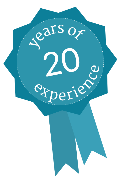 20 Years of Experience Rosette